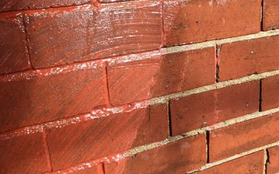 how to clean brick from paint
