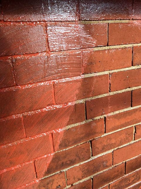 Brick Cleaning paint removal & pointing