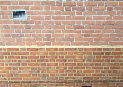 Brick cladding plinth