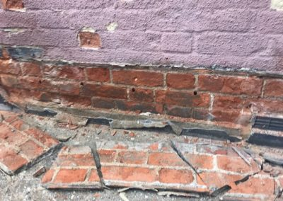 concrete render causing damp not old chemical injection holes